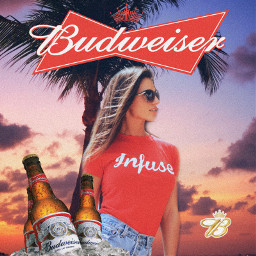 budweiser beer poster girl beach bud replay freetoedit unsplash tiktokbeerchallange beerposter