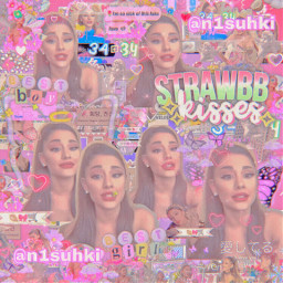 n1suhki arianagrande complex strawberry pink aesthetic butterfly sparkle overlay n1suhkifan freetoedit