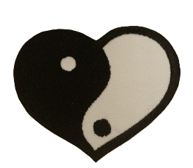 heart hearts yingyang whiteandblack aesthetic pin cute y2k y2kaesthetic fairycore fairy art moodboards aestheticedit soft softcore cybergoth cybercore edit freetoedit