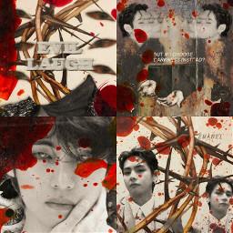 bts taehyung kimtaehyung btstaehyung btsv taehyungedit btsedit kpop kpopedit graphicdesign blood dark aesthetic aestheticedit editing