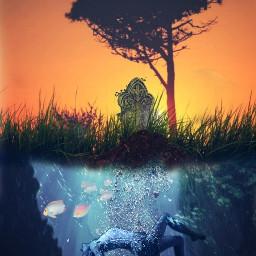 grave water underwater underwaterlife freetoedit