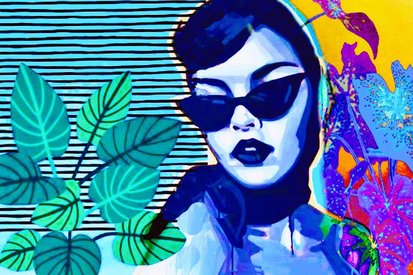 #freetoedit #popart #incognito #vintagestyle #secretlifeofplants #sunglasses #colorpop #graphicart #trendingartstyles2021