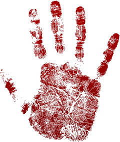 blood bloody red hand print freetoedit