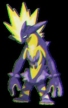glitchaesthetic glitch retro retrowave vaporwave purple pokemon pkmn toxtricity pokemonswordandshield chromaticaberration freetoedit