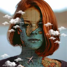 unsplash face maps clouds airplane woman freetoedit