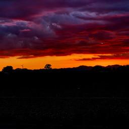 sunset storm freetoedit