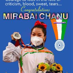 mirabaichanu mirabai chanu olympics india freetoedit shop