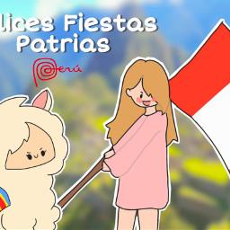 independenceday peru  time: lovemycountry llama red white mydraw draw picsart ibispaint freetoedit peru