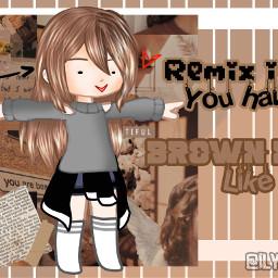 remix brownhair freetoedit