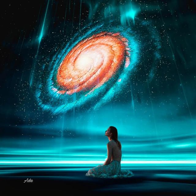 #galaxy#universe#heypicsart#girl#alone#night#bluesky#sky#blueeffects#freetoedit#remixit#myedit
