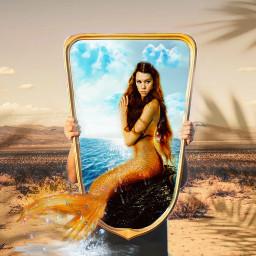 mirrorreflection imageremixchallenge picsart fantasyworld mermaidgirl fantasy edit desert surreal mirroredit picsartchallenge interesting sea sky beach aesthetic freetoedit ircmirrorreflection
