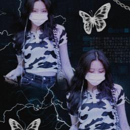 freetoedit shinyuna cybercore cybergoth cyber2yk 2yk tecnology butterflies yuna itzy jyp korean korea girl asian kpopedit pic hobaria