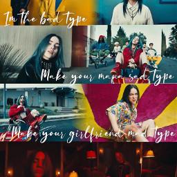 billieeilish billie eilish badguy musicvideo blende edit blendedit cloudydaisies colorful imthebadguyduh duh music billieeilishedit ily freetoedit