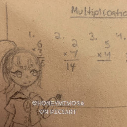 girl school drawing mathclass art myart ocbutnotreally justarandomcharacter notfreetoedit math