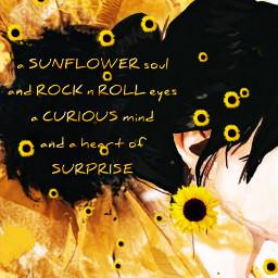 sunflower sunflowers brunette woman petals poem inspirational quote sunflowersoul rocknroll rocknrolleyes curiousmind heartofsurprise freetoedit srcsunflowersplash sunflowersplash