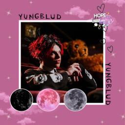 freetoedit yungblud moon pink godsavemebutdontdrownmeout