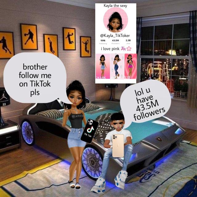 Kayla the TikToker! 😍 #imvutiktoker #imvuteenager