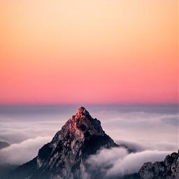 mountain sunrise cloudy unsplash freetoedit