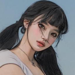 art girl draw drawing drawn drawings