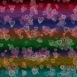freetoedit colorfulbackground flowersandhearts replay neoneffect floralbackground delicated local