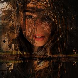 freetoedit doubleexposure woman myedit landscape girl remix