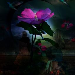 freetoedit landscape fantasy surreal artistic myedit doubleexposure remix