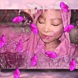 freetoedit butterflies shimmer pink pinkbutterflies peaceful