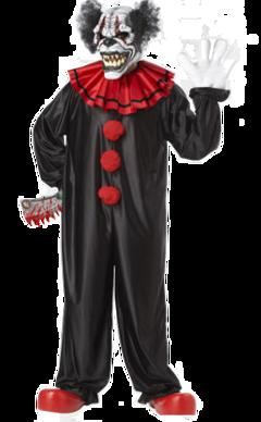 halloween scaryclown spooky creepy black red costume freetoedit local
