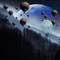 airballoon swing galaxy forest lightbulb freetoedit local srcflyingairballoons flyingairballoons