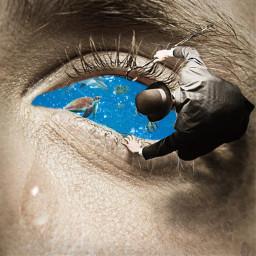 freetoedit eye lash man cane ocean water oceaneye oceaneyes watereye dude cool tear