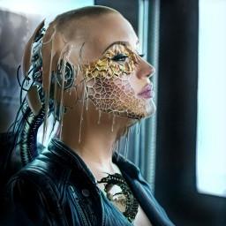 terminator robot biorobot bio 2050 picsart girl artgirl people life future steel metall brain art picsartedit picsarteffects heypicsart freetoedit local