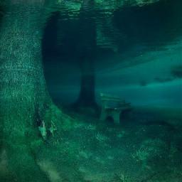 grunge underwater lost green aesthetic