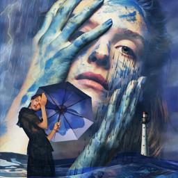 notinchallenge blueaesthetic stormyweather rain umbrella imagination myimagination stayinspired create creativity justforfun heypicsart local freetoedit