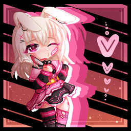 contestentry gacha gachaclub gachaclublineart pink black