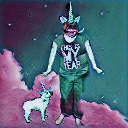 freetoedit unicornhorn dog me srcunicornhorn