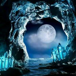 lua moon paisagem landscape praia natureza nature caverna beach freetoedit
