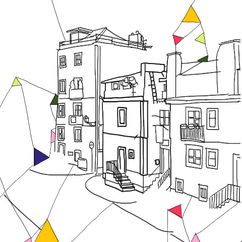 Outlined buildings image