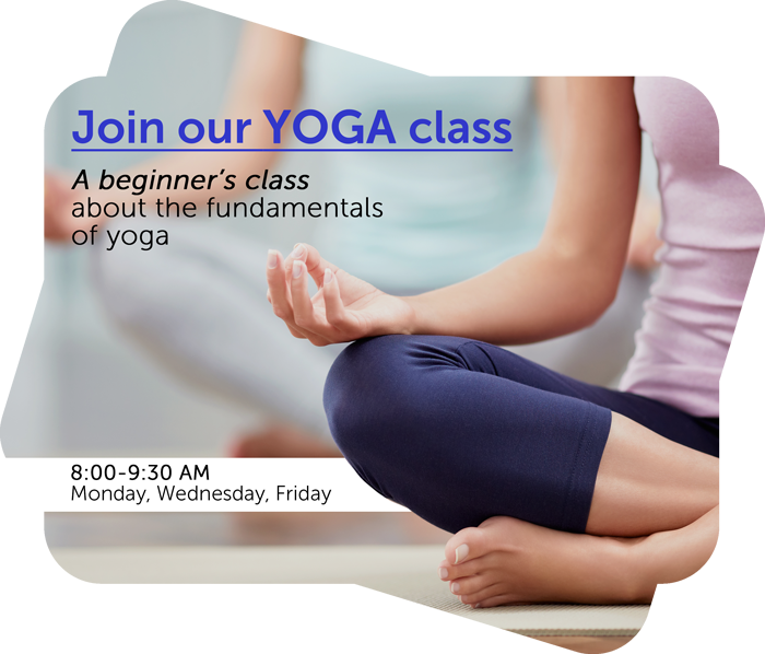 join our yoga class text on a flyer template