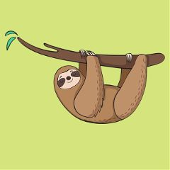 Create,the,cutest,sloth,sticker,for,today's,challenge!,Cover,image,by,@missbee_