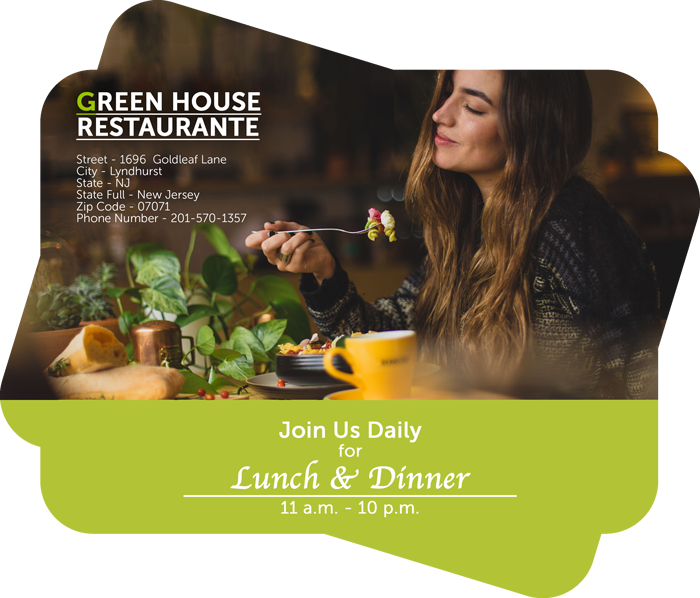 green house restaurant brochure template