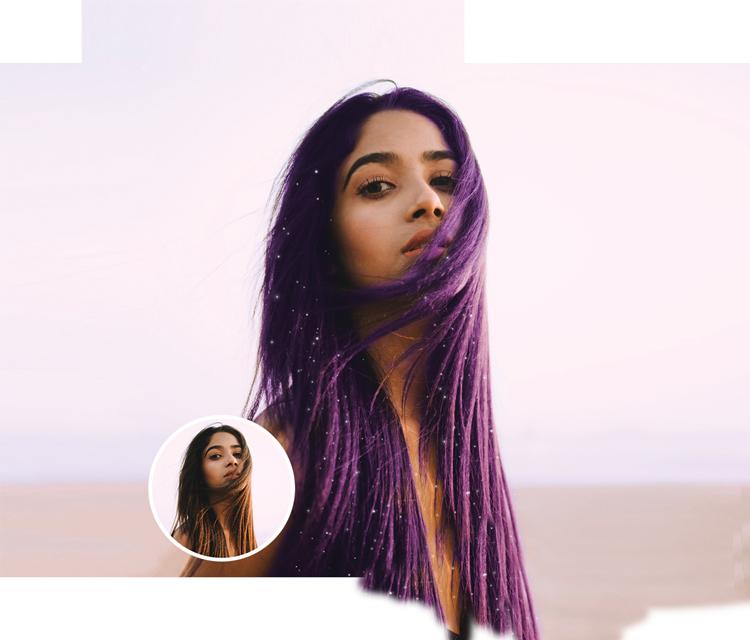 purple hair girl image