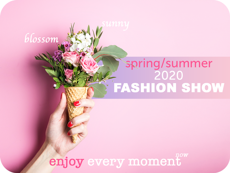 spring summer fashion show flyer template