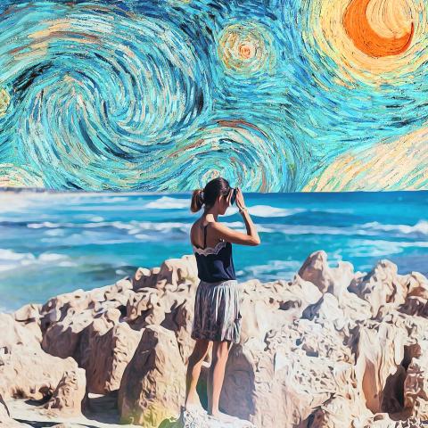 Van Gogh background sky image