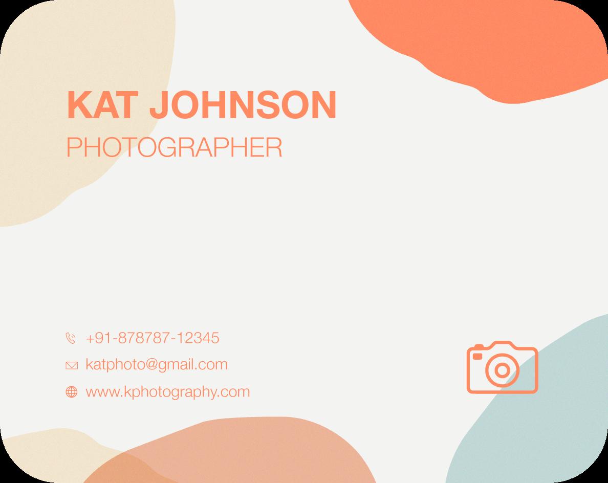 creative business card design template of a photographer